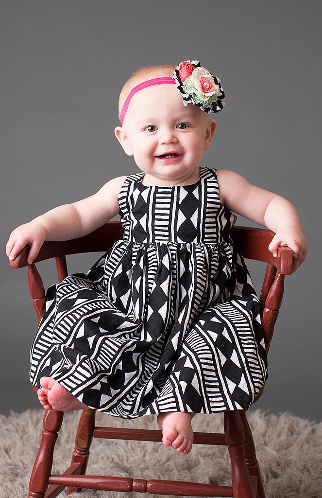 studio portrait of baby girl by pixelations photography