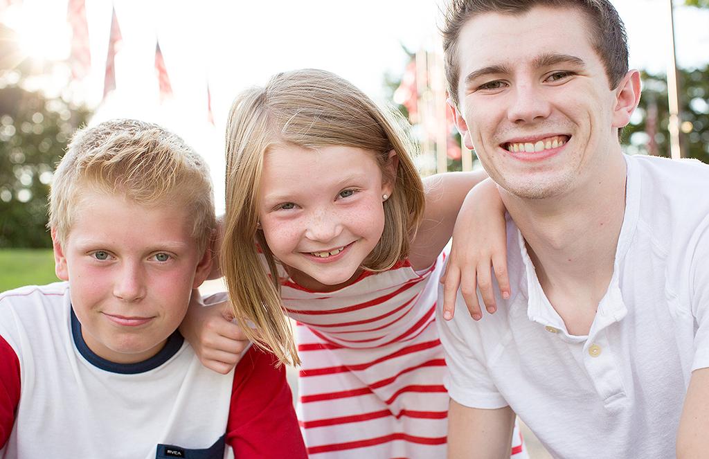 outdoor portrait of 3 children by pixelations photography