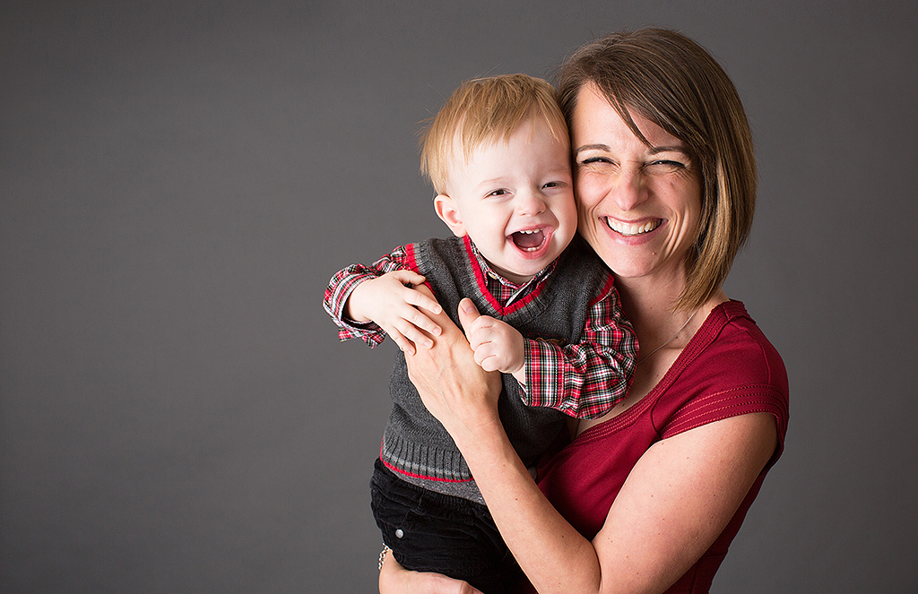 studio portrait of mother and little boy by pixelations photography