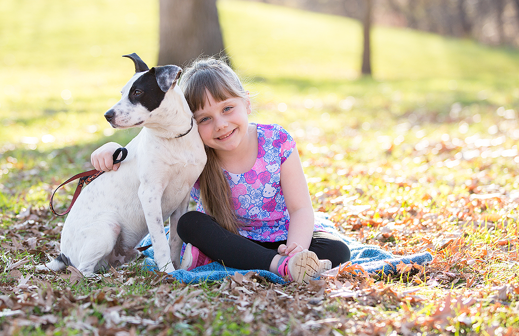 child and dog portrait by pixelations photography