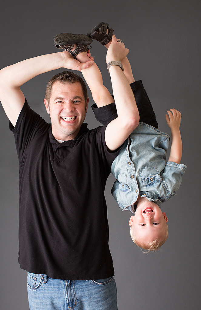 studio portrait of father and little boy by pixelations photography